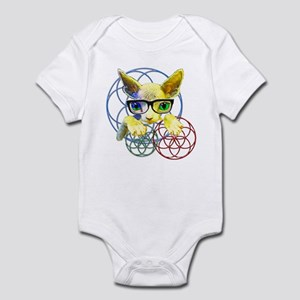 Sphynx kitty sacred geometry 2 Baby Light Bodysuit