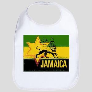 Jamaican Rasta Lion Bib