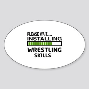 Please wait, Installing Wrestling S Sticker (Oval)
