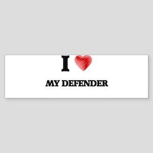 I Love My Defender Bumper Sticker