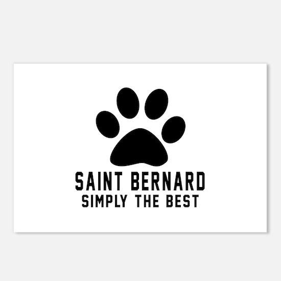 Saint Bernard Simply The Postcards (Package of 8)