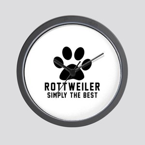 Rottweiler Simply The Best Wall Clock