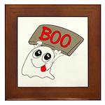 Ghost Boo Framed Tile