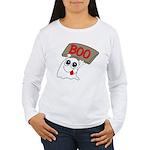 Ghost Boo Women's Long Sleeve T-Shirt