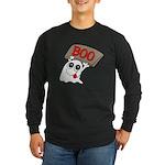 Ghost Boo Long Sleeve Dark T-Shirt
