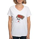 Ghost Boo Women's V-Neck T-Shirt