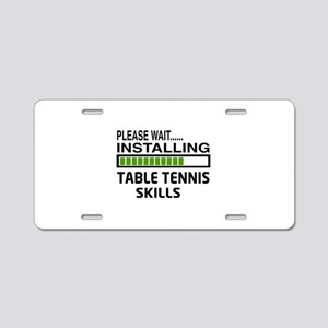 Please wait, Installing Tab Aluminum License Plate