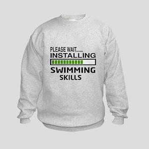Please wait, Installing Swimming S Kids Sweatshirt