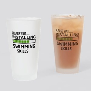 Please wait, Installing Swimming Sk Drinking Glass