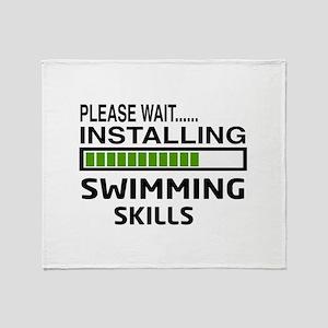 Please wait, Installing Swimming Ski Throw Blanket