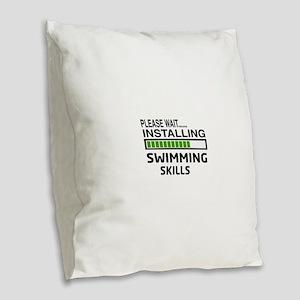 Please wait, Installing Swimmi Burlap Throw Pillow