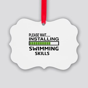 Please wait, Installing Swimming Picture Ornament