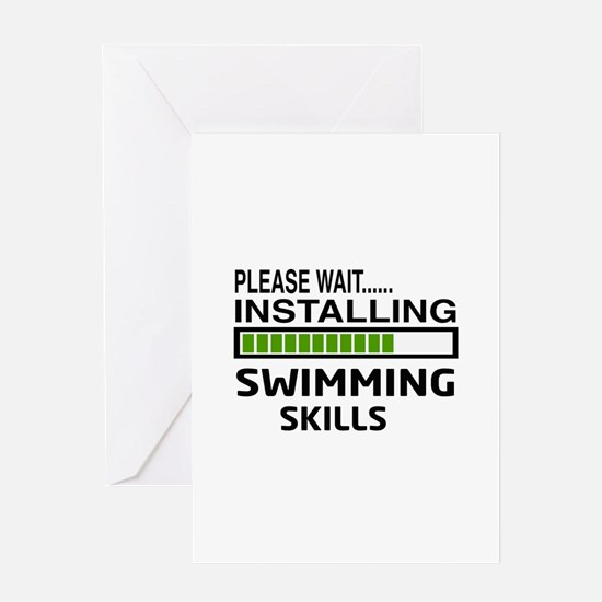 Please wait, Installing Swimming Ski Greeting Card
