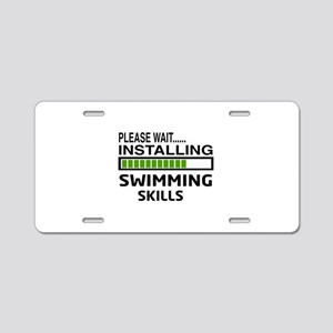 Please wait, Installing Swi Aluminum License Plate