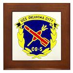 USS Oklahoma City (CG 5) Framed Tile