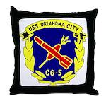 USS Oklahoma City (CG 5) Throw Pillow