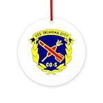 USS Oklahoma City (CG 5) Ornament (Round)