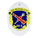 USS Oklahoma City (CG 5) Oval Ornament
