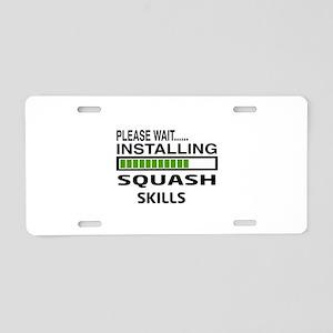 Please wait, Installing Squ Aluminum License Plate