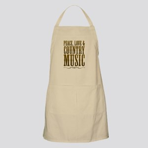 Peace Love Country Music Apron