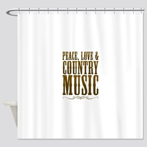 Peace Love Country Music Shower Curtain