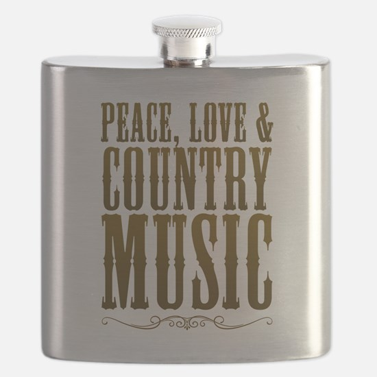Peace Love Country Music Flask