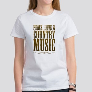 Peace Love Country Music T-Shirt