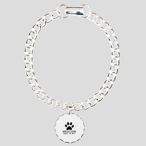 Norwegian Elkhound Simpl Charm Bracelet, One Charm