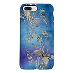 Gold Dot on Blue Watercolor iPhone 8/7 Plus Tough
