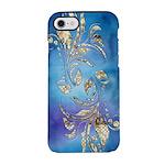 Gold Dot on Blue Watercolor iPhone 8/7 Tough Case