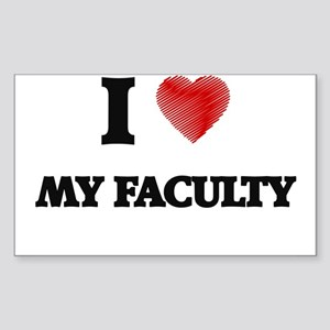 I Love My Faculty Sticker