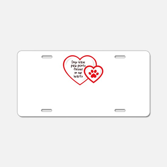 Cute I love dogs Aluminum License Plate