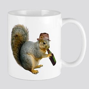 Squirrel Beer Hat Stainless Steel Travel Mugs