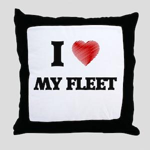 I Love My Fleet Throw Pillow