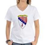 USS Chicago (CG 11) Women's V-Neck T-Shirt