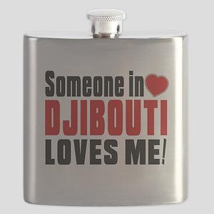 Someone In Djibouti Loves Me Flask