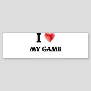 I Love My Game Bumper Sticker