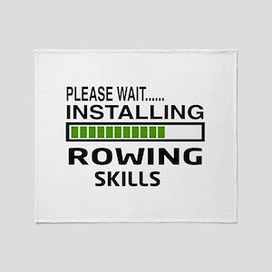 Please wait, Installing Rowing Skill Throw Blanket