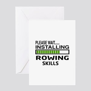 Please wait, Installing Rowing Skill Greeting Card