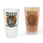 vintage blues music Drinking Glass