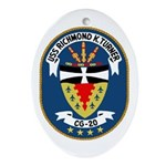 USS Richmond K. Turner (CG 20 Oval Ornament