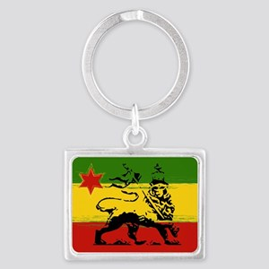 Rasta Lion Of Judah Rectangle Keychains
