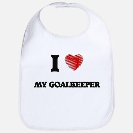 I Love My Goalkeeper Bib