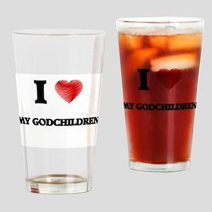 I Love My Godchildren Drinking Glass