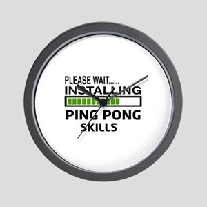 Please wait, Installing Ping pong Skill Wall Clock