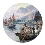 Lewis and Clark NHS Round Car Magnet