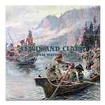 Lewis and Clark NHS Square Car Magnet 3