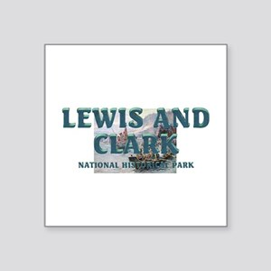 """Lewis and Clark NHS Square Sticker 3"""" x 3"""""""