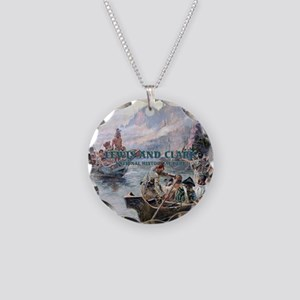 Lewis and Clark NHS Necklace Circle Charm