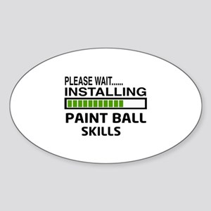 Please wait, Installing Paintball S Sticker (Oval)